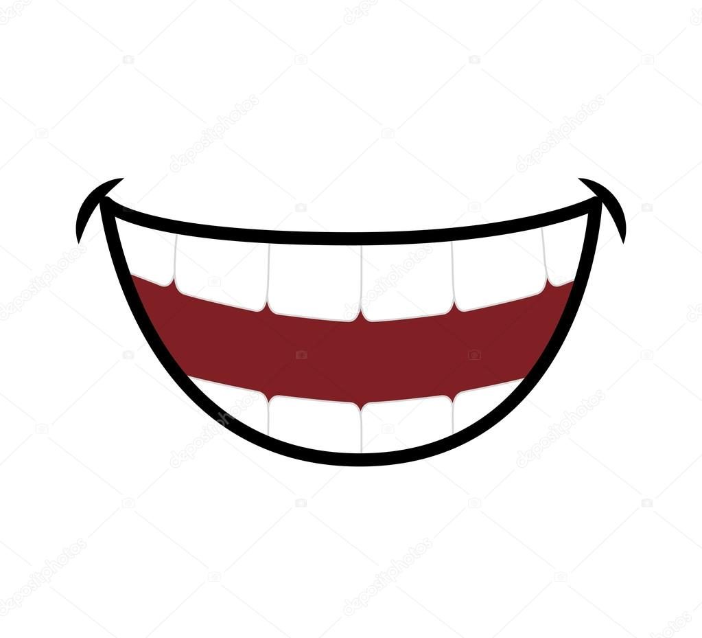 Smile cartoon icon. Mouth design. Vector graphic — Stock Vector © djv #115120928