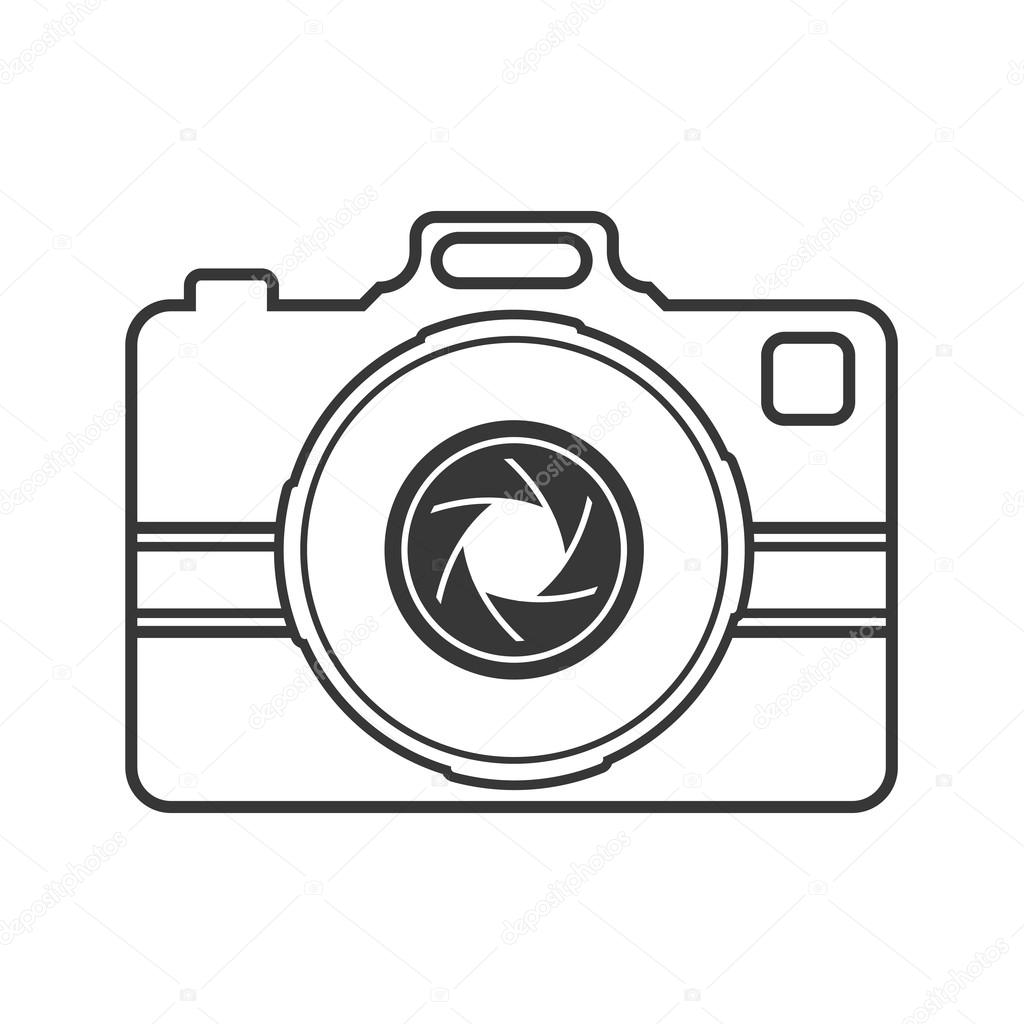 значок технологии гаджет фокус камеры. Векторная графика