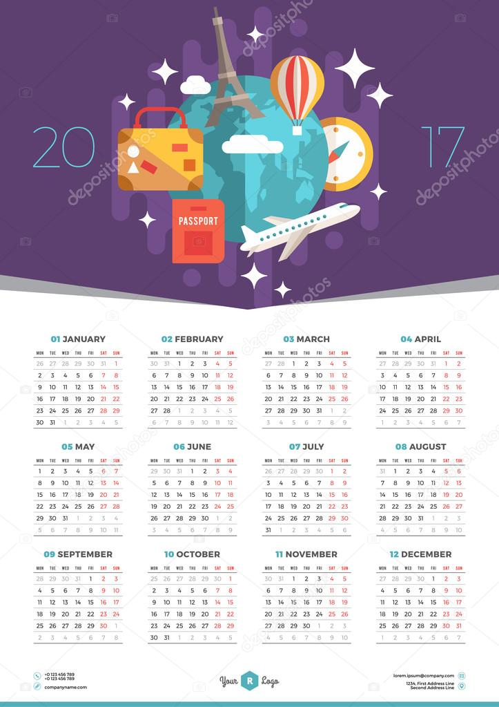 picture 2017 Poster Calendar Template https depositphotos com 110032038 stock illustration calendar design template for 2017 html