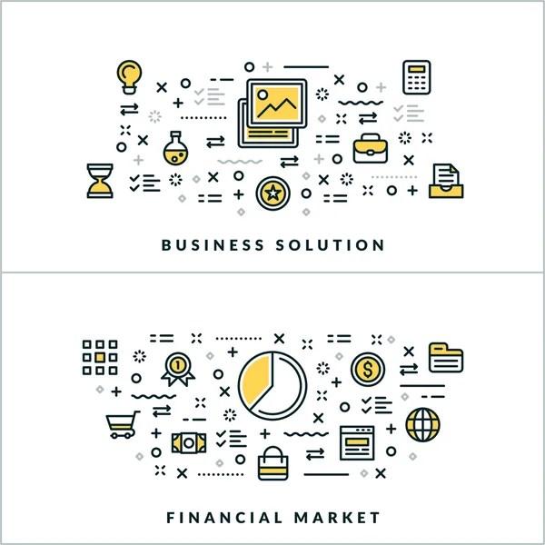 Dinheiro e mercado financeiro — Vetores de Stock