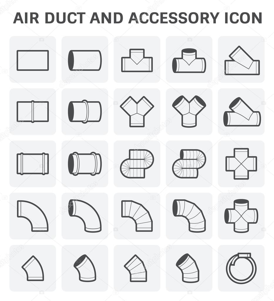 Air Duct Icon — Stock Vector © roncivil #118122634