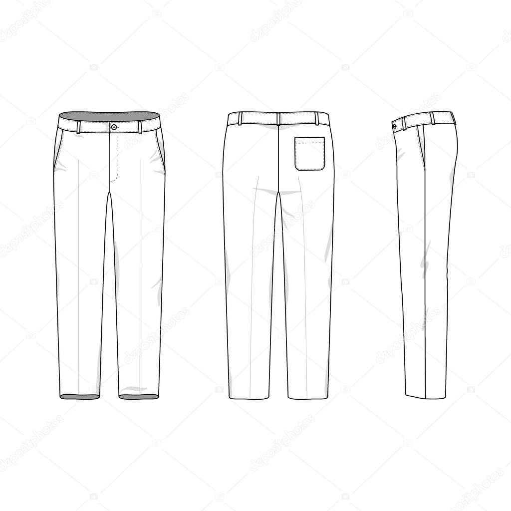 Simple outline drawing of a pants — Stock Vector