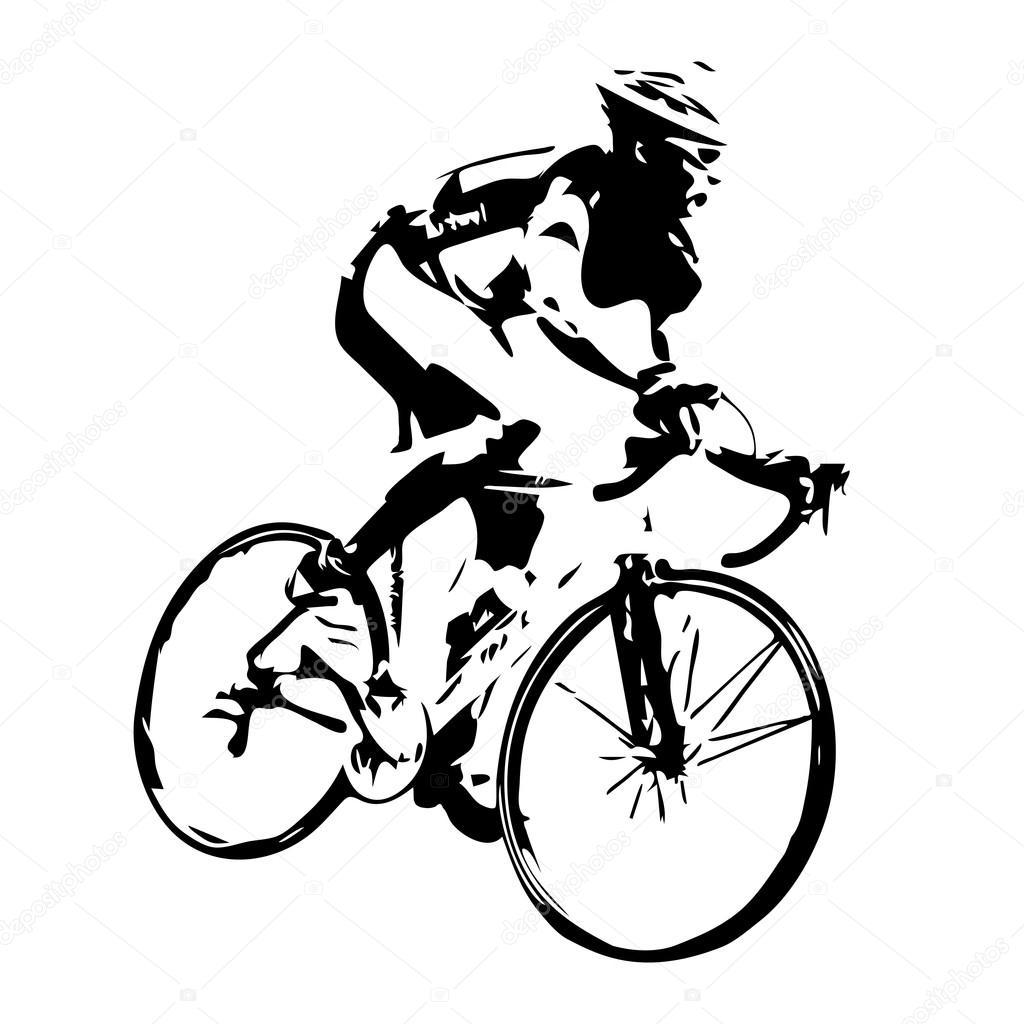 Silhouette Vectorielle Cycliste