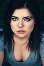closeup portrait of beautiful young