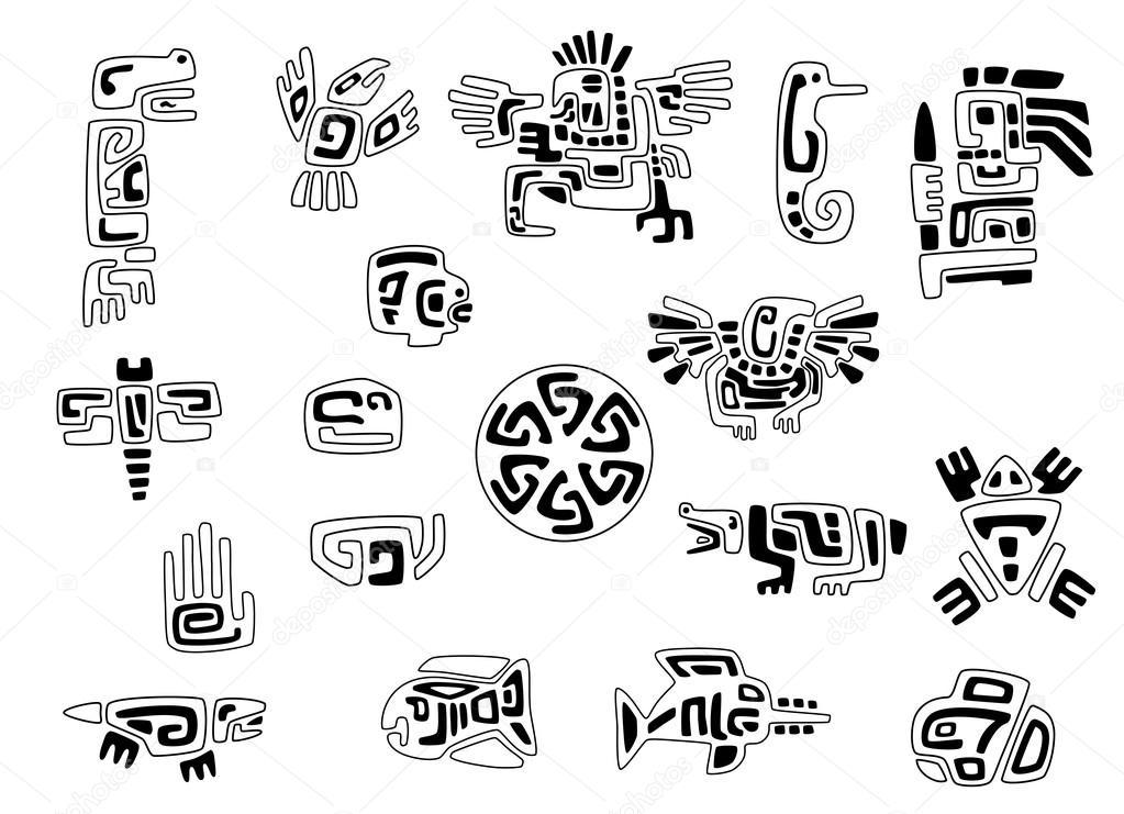 Plantilla De Símbolos Indios Tigua Haiterbosidml