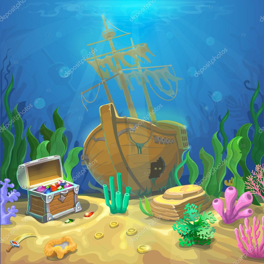 Paesaggio subacqueo Loceano e il mondo sottomarino con