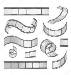 slide film frame set film roll 35mm media filmstrip negative and strip vector [ 1024 x 1024 Pixel ]