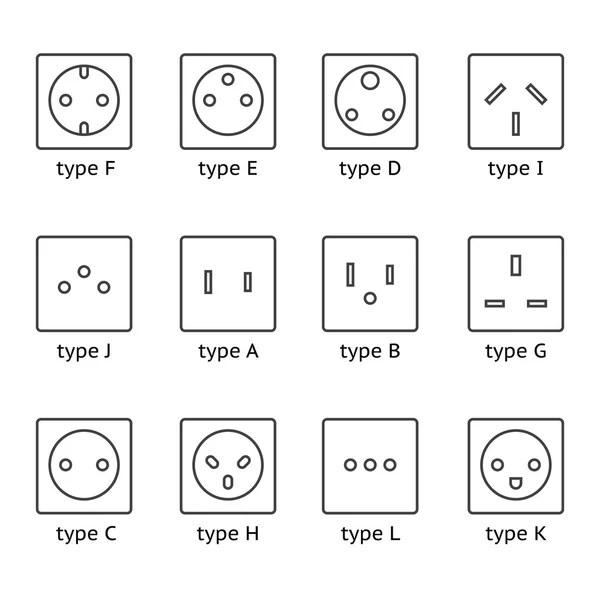 ᐈ Electrical symbol for outlet stock icon, Royalty Free