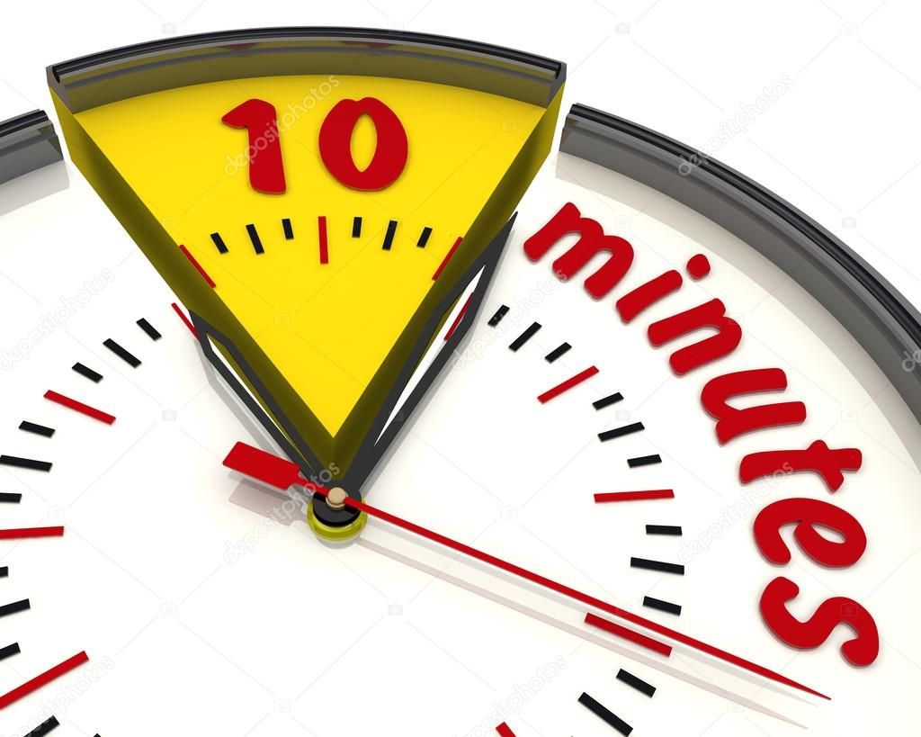 10 Minutes on the clock — Stock Photo © Waldemarus #65089179