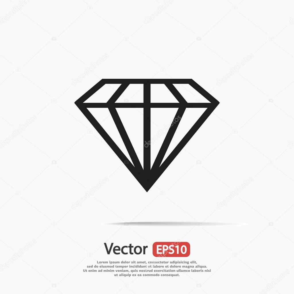 Diamond Icon Flat Design