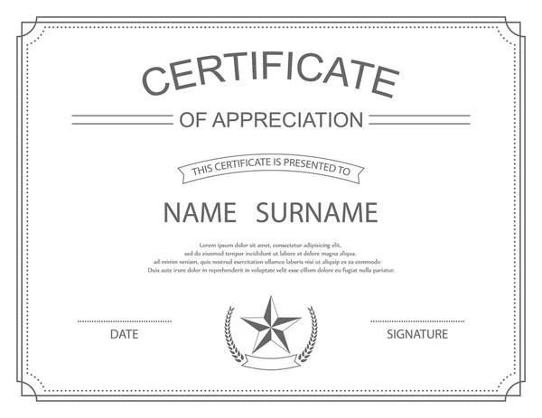 Certificate Template — Stock Vector © vectomart #5316138