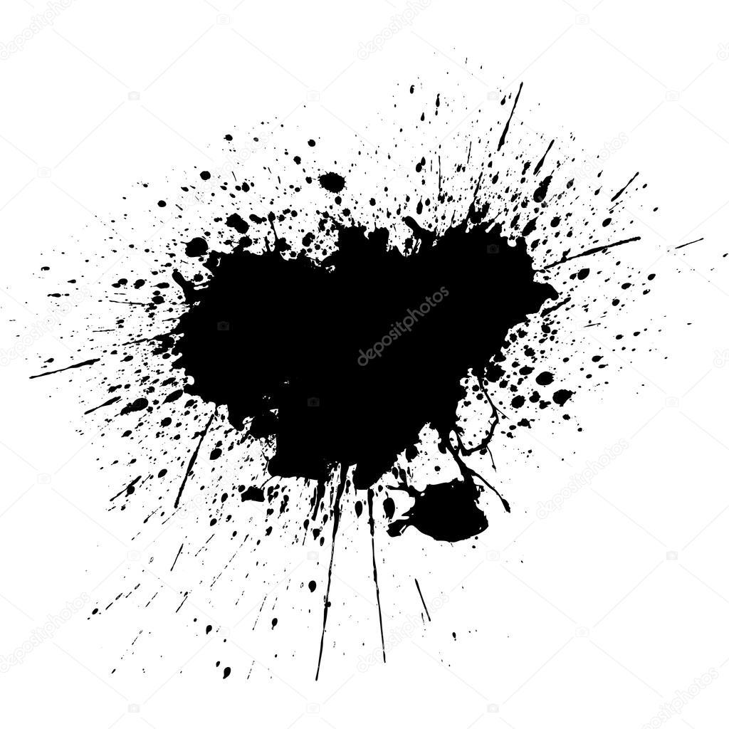 Fundo De Respingos De Tinta Preta Projeto De Ilustracao