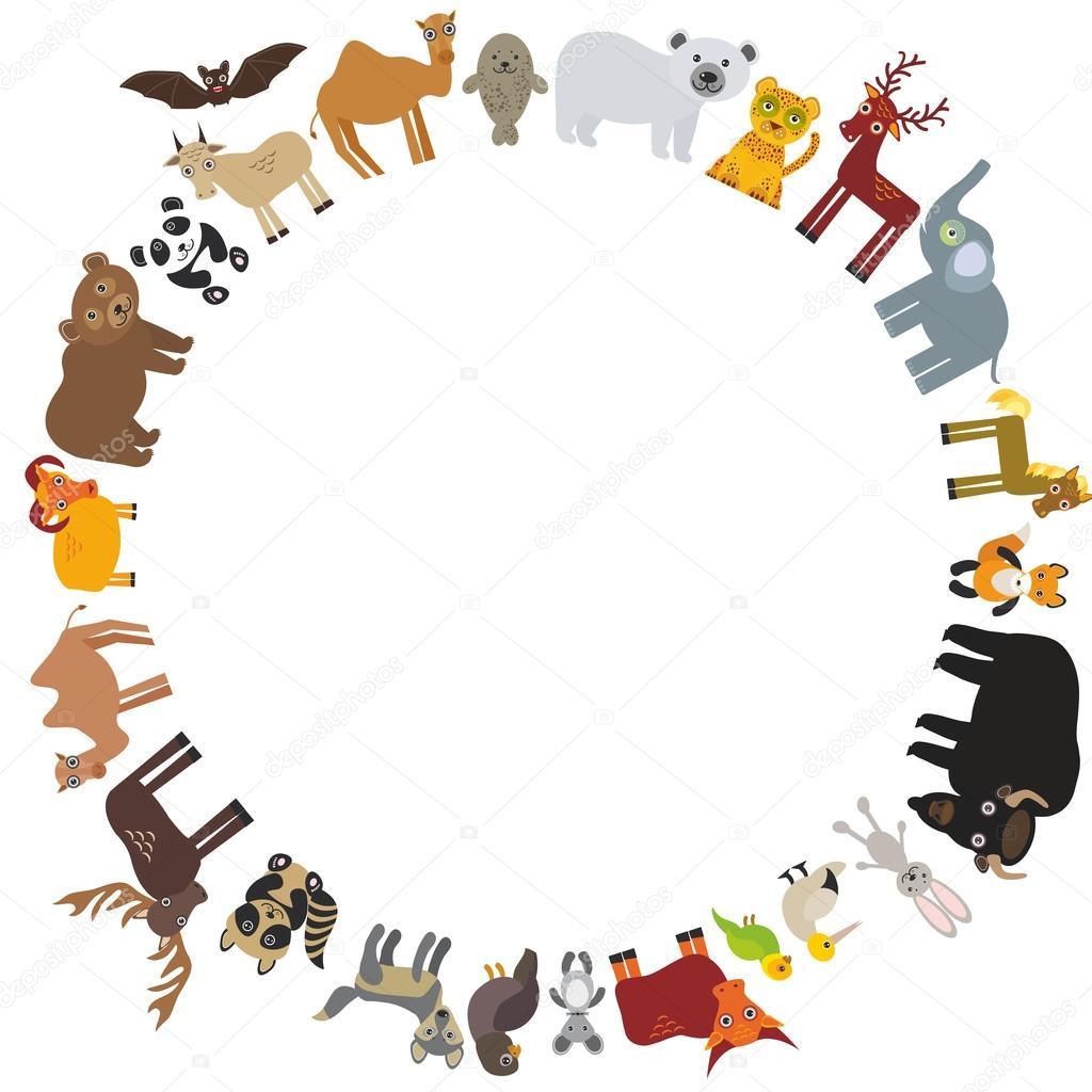 round frame animal card