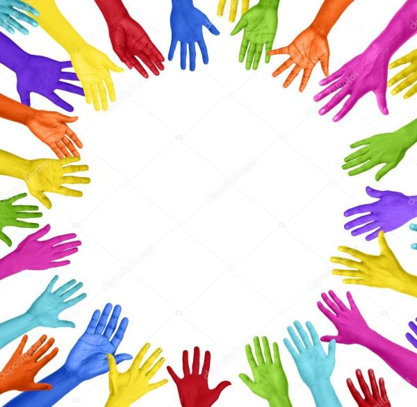 Colorful Hands Forming Circle Stock Photo Rawpixel