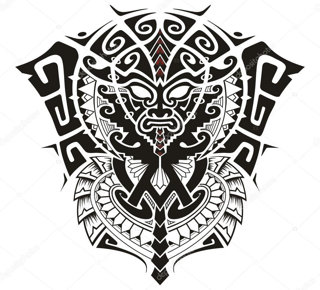 Imágenes Simbolo Alfa Y Omega Tatuaje Máscara De Dios Tribal Con