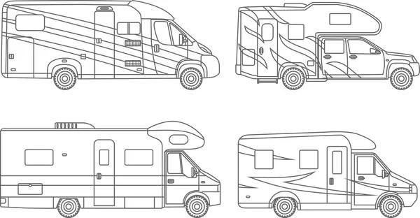 Set di sagome di auto moderne — Vettoriali Stock