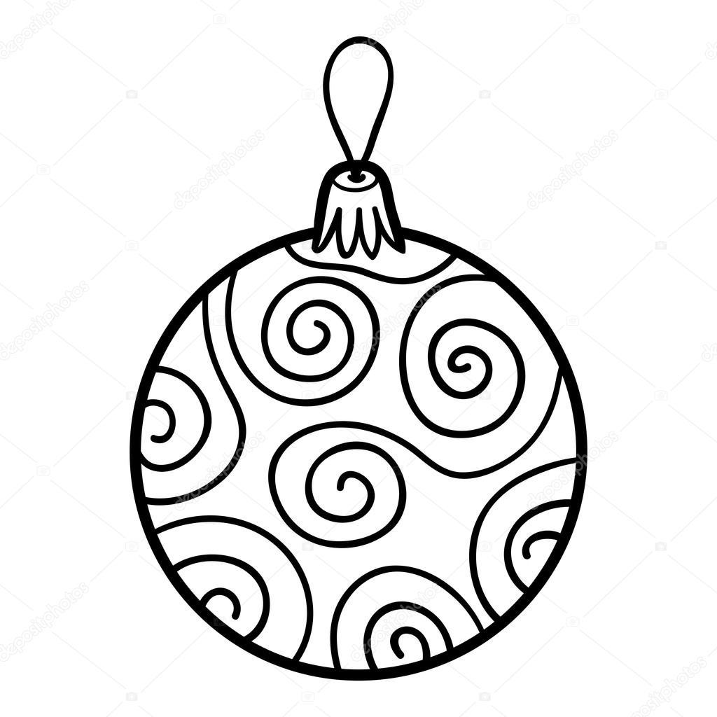 Kleurplaat Kerstboom Speelgoed Boek Bal