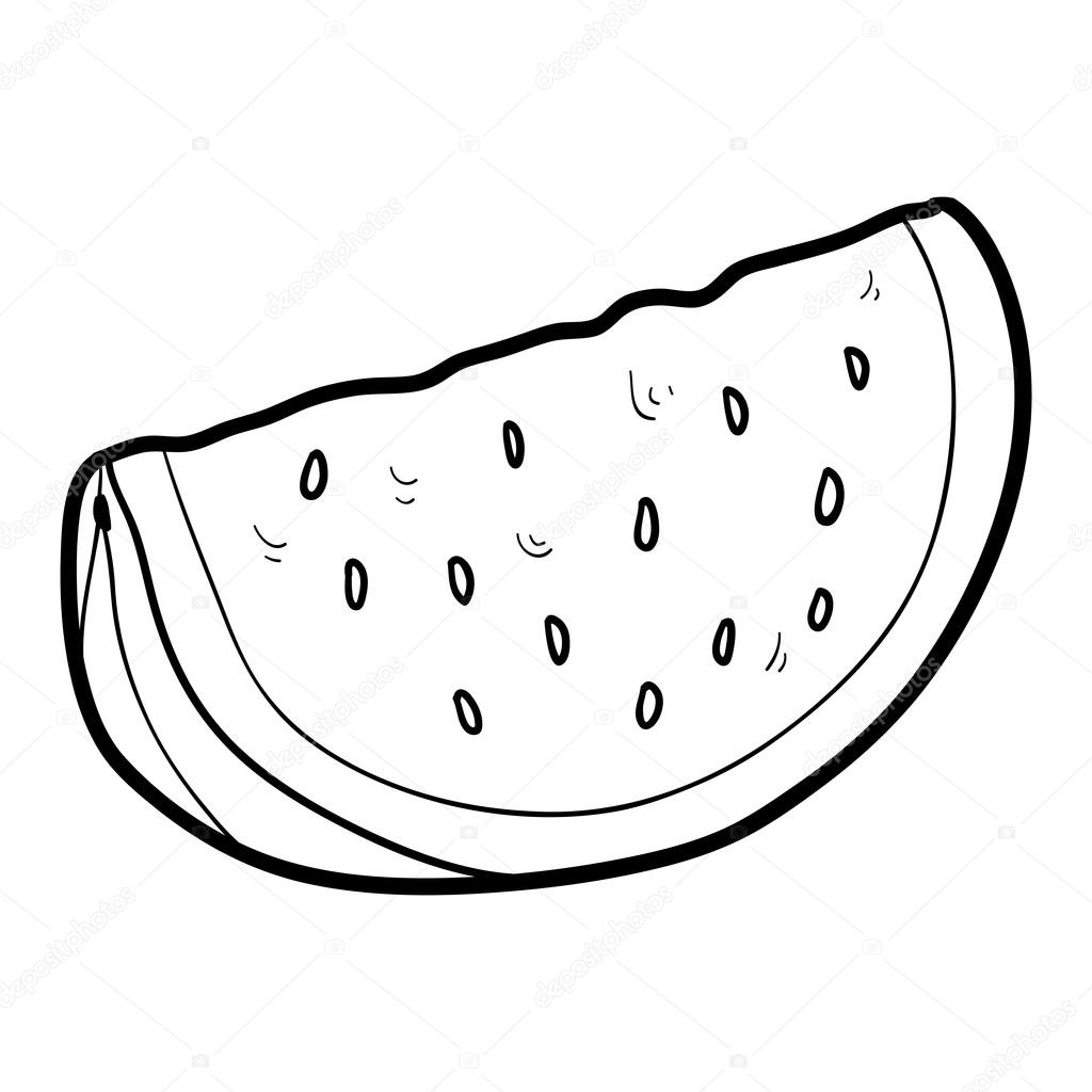 Coloring Book Fruits And Vegetables Watermelon