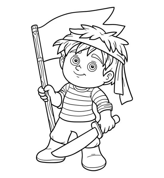 comandante di soldato romano con spada e scudo