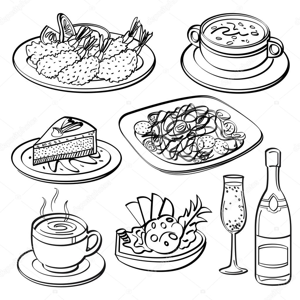Pictures Dinner Set