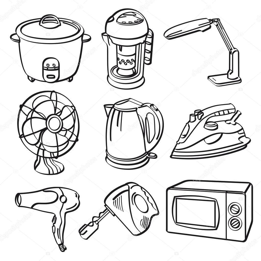 Electrodomésticos — Vector de stock © godfather744431