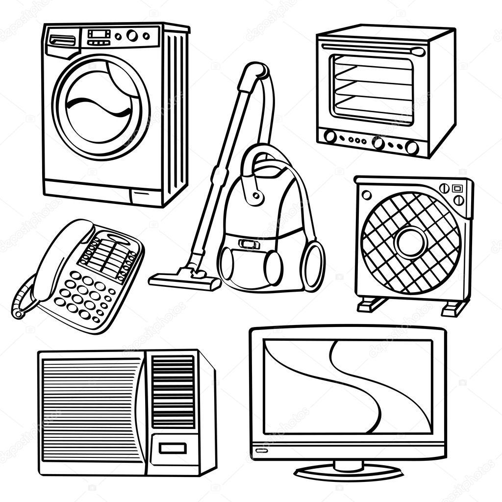 Home Electric Appliances — Stock Vector © godfather744431