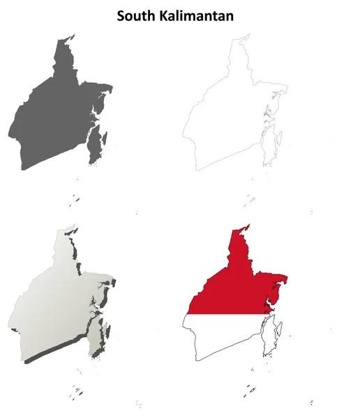 Peta Kalimantan Hitam Putih : kalimantan, hitam, putih, Kalimantan, Selatan, Vektor,, Ilustrasi, Bebas, Royalti, Depositphotos®