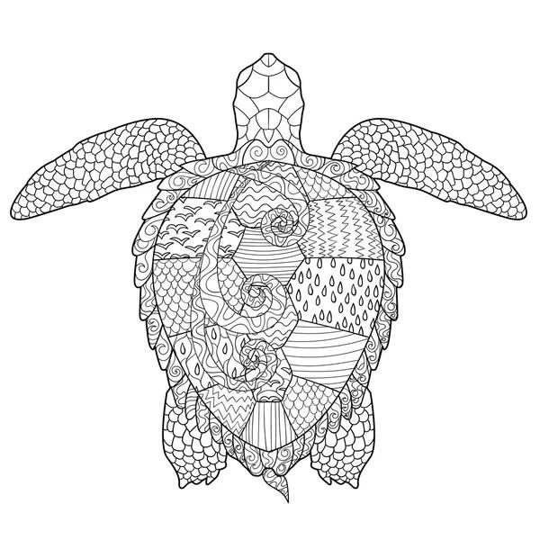 Kleurplaten schildpad Stockvectors, rechtenvrije
