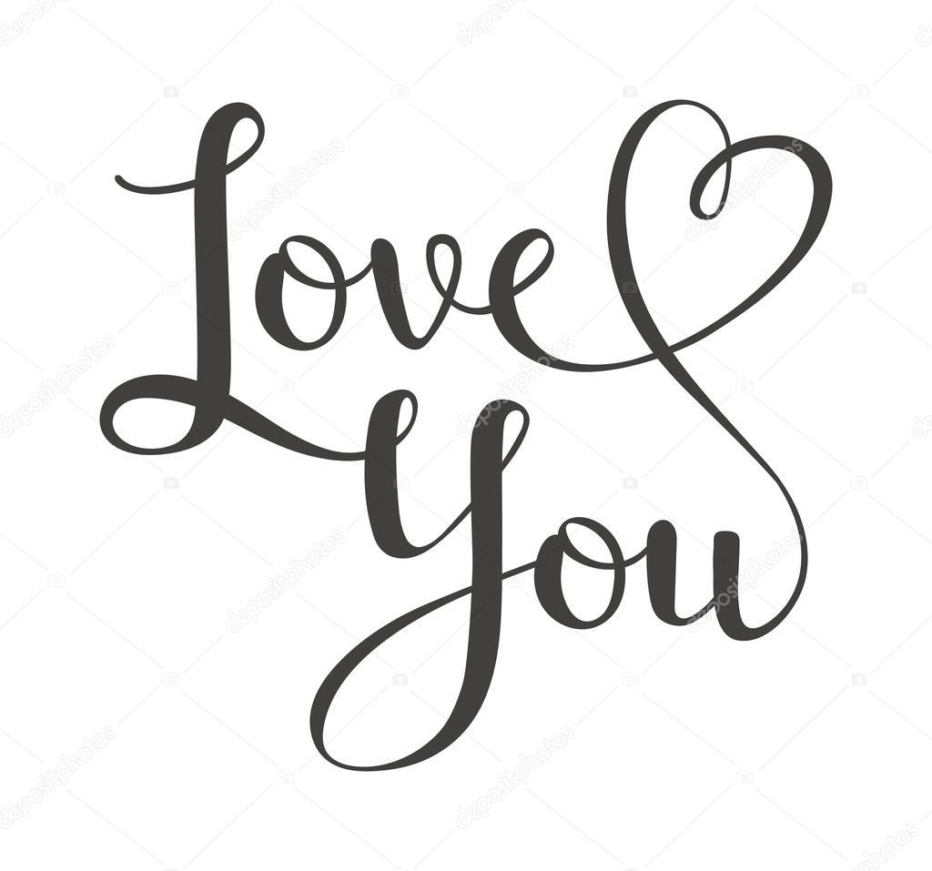 Download I love You vector text — Stock Vector © adekvat #117302852