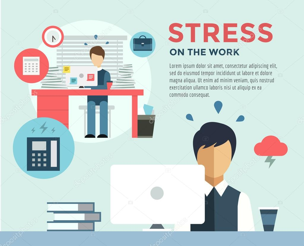 New Job After Stress Work Infographic Students Stress