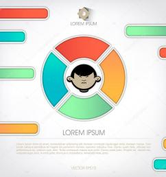 templates for diagram and presentation human face in the schema stock vector [ 1024 x 1024 Pixel ]