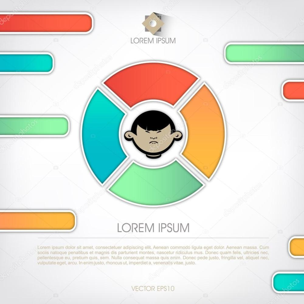 medium resolution of templates for diagram and presentation human face in the schema stock vector