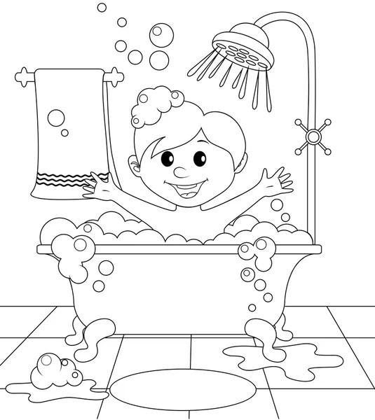 Kolorowe i czarno-białe wody dla Kolorowanka — Grafika