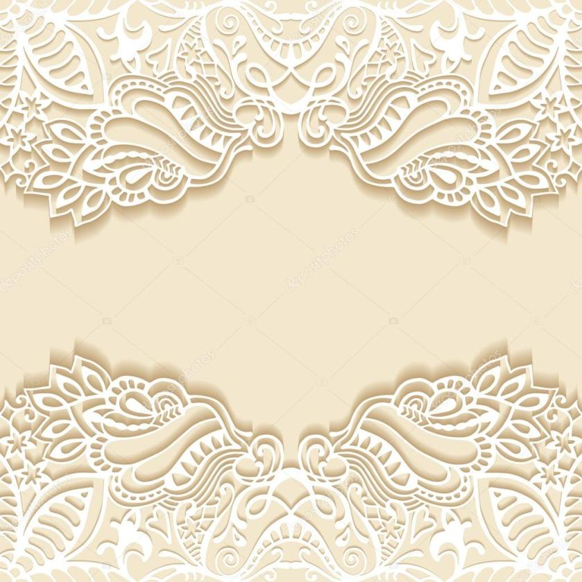 Abstract Background Wedding Invitation Or Greeting Card Design With Lace Pattern Beautiful Luxury Postcard Ornate Page Cover Ornamental Vector