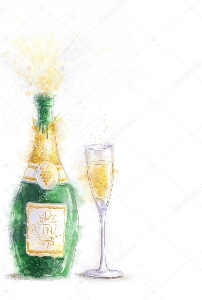 Champagne Party Celebration Theme With Splashing