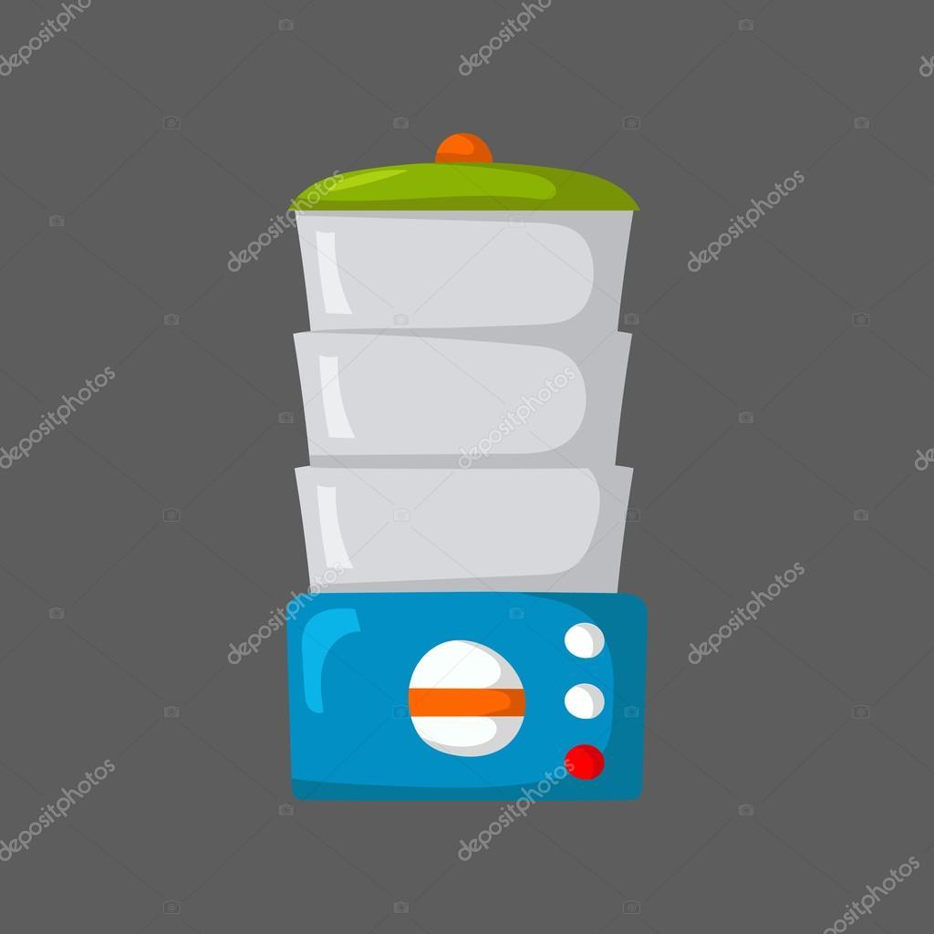 steamer kitchen coffee cart 孤立的卡通厨房蒸笼 图库矢量图像 c petitelili 108864600 图库矢量图片