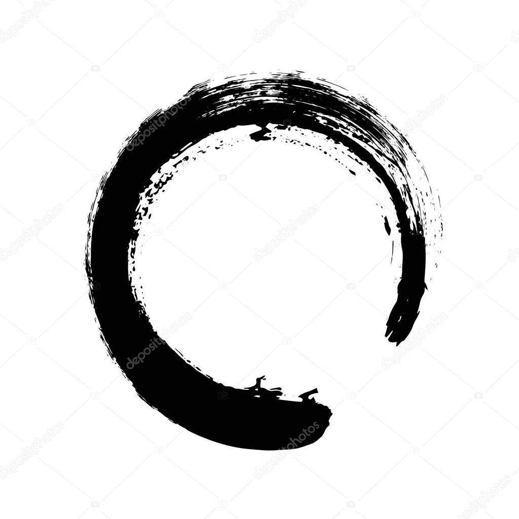 hand drawn circle shape