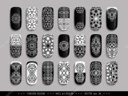 nail-design-black-white-ornament-mandala