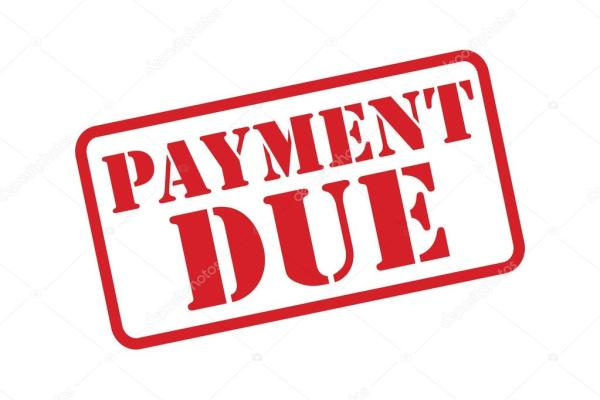 'payment due' red stamp vector