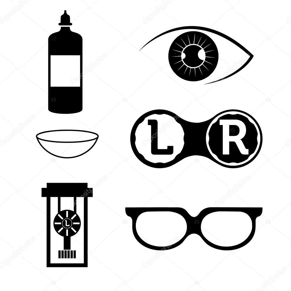 Lentes De Contacto Visual Elementos Y Gafas