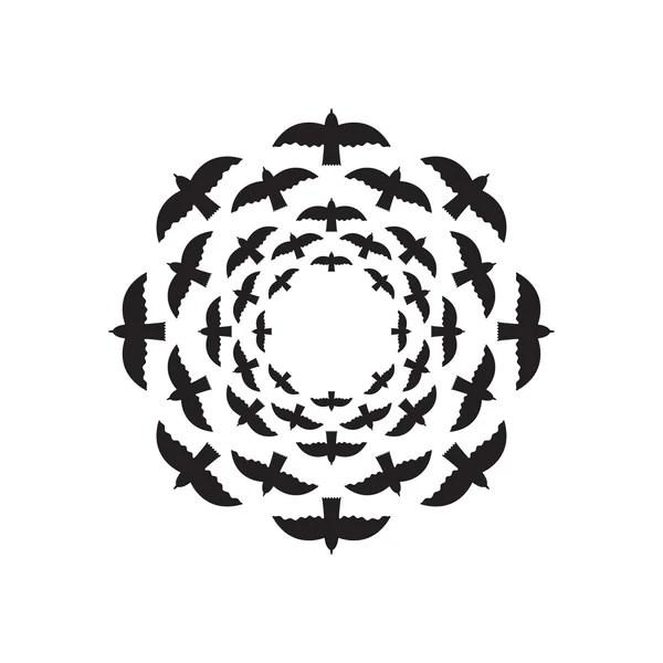 Dandelion, logo design vector template — Stock Vector