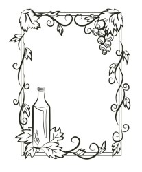 The outline of the frame with grapes Stock Images Page Everypixel