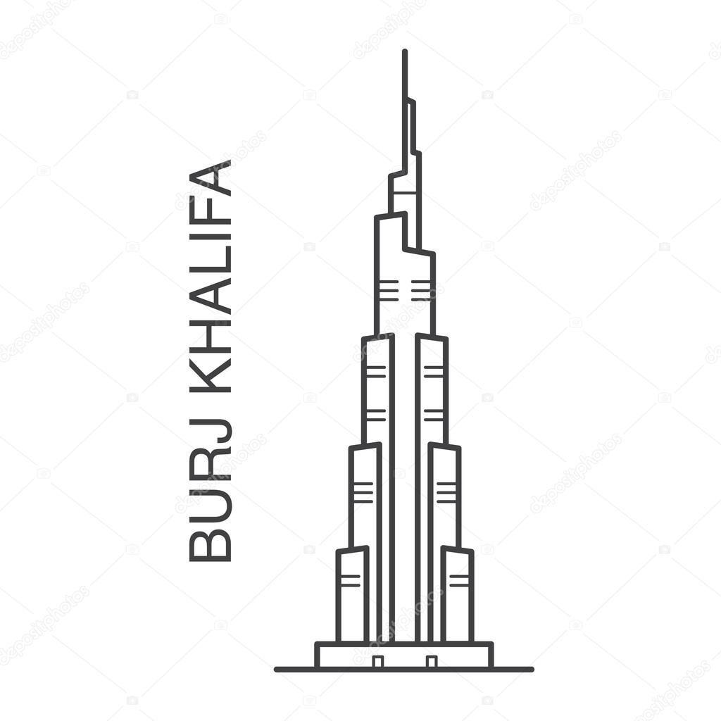 Burj Khalifa Illustration