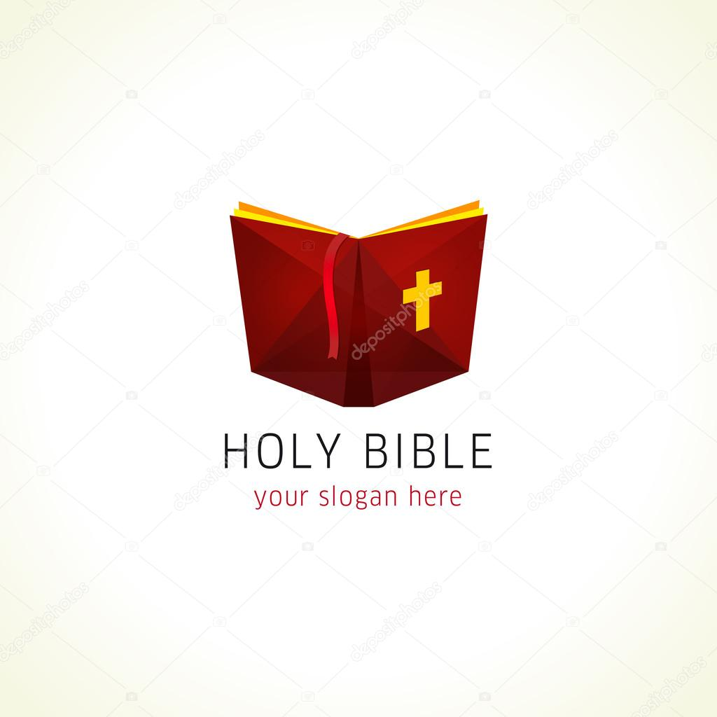 hight resolution of online holy bible or christian literature vector logo open book with cross clipart icon computer software or phone application educational studying sign