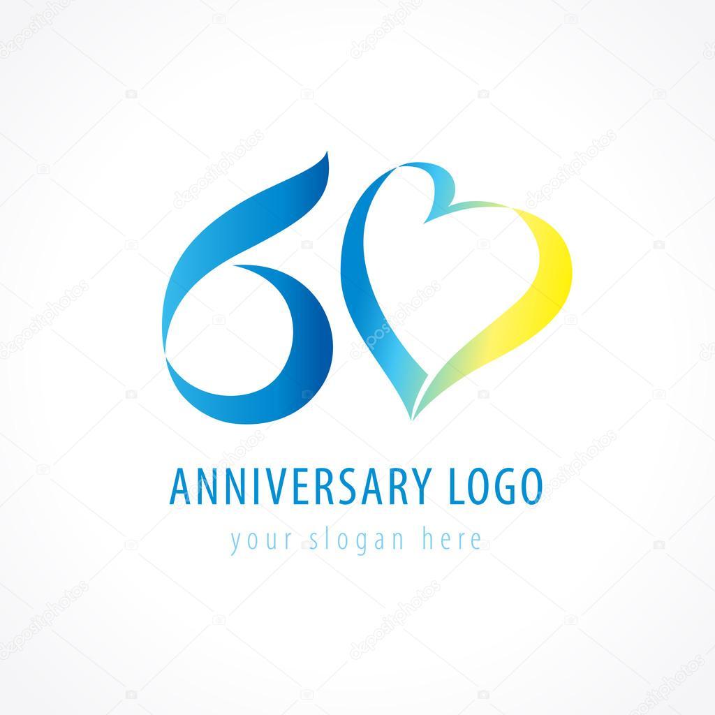 Download 60 anniversary logo love — Stock Vector © Koltukov_Alek ...
