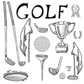 Designed golf background, Element or icon of golf ball