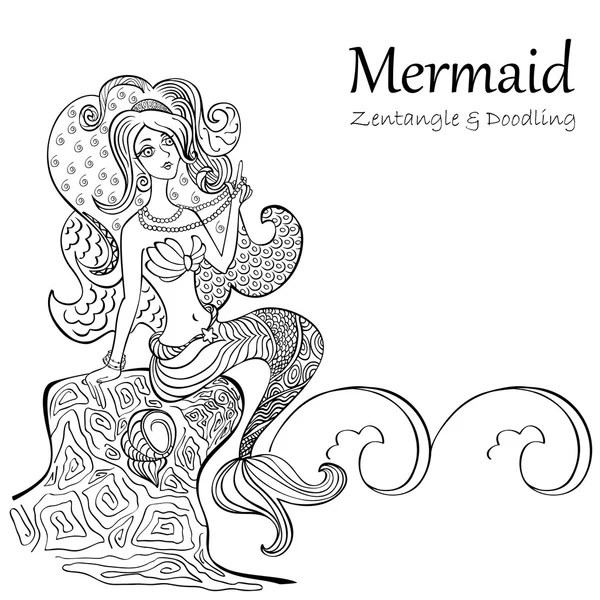 ᐈ Mermaids to colour stock pictures, Royalty Free mermaid