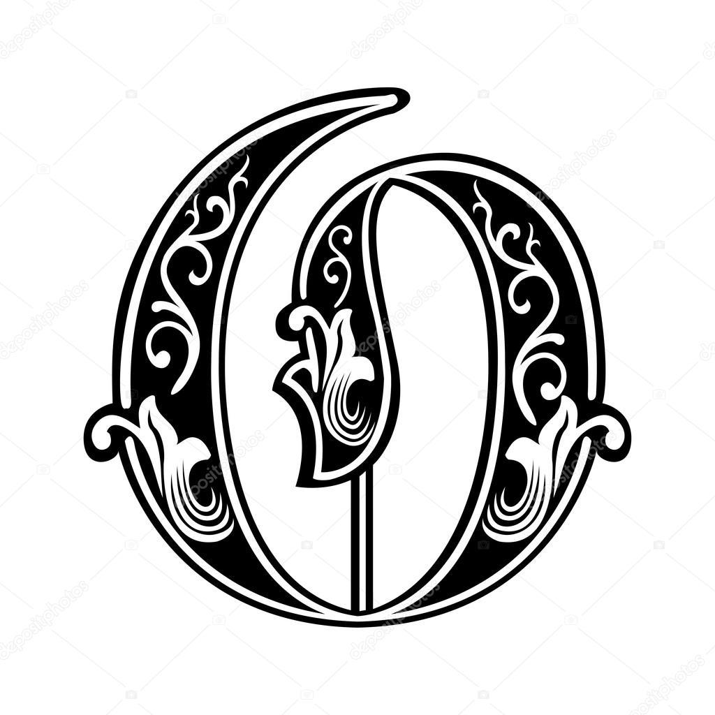 Beautiful decoration English alphabets, Gothic style