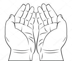 Betende Hände — Stockvektor © funwayillustration 54807979