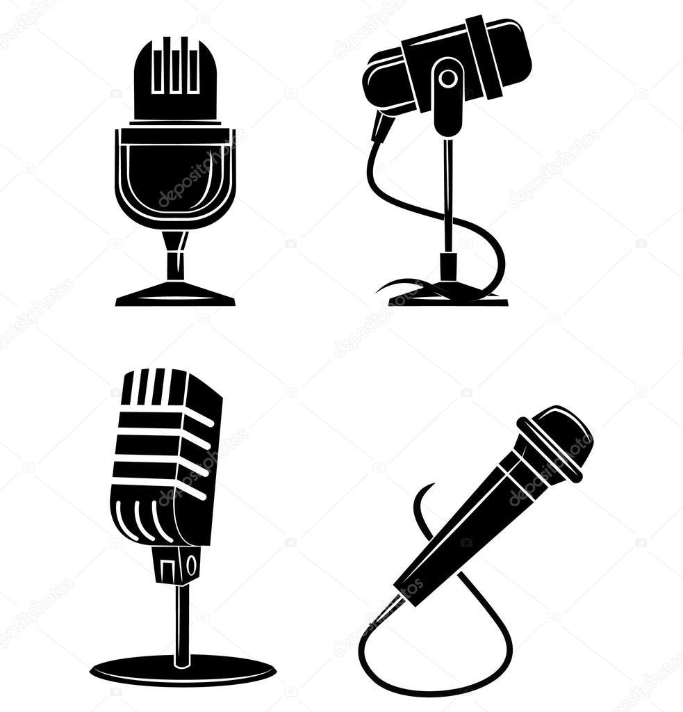 símbolo de micrófono — Vector de stock